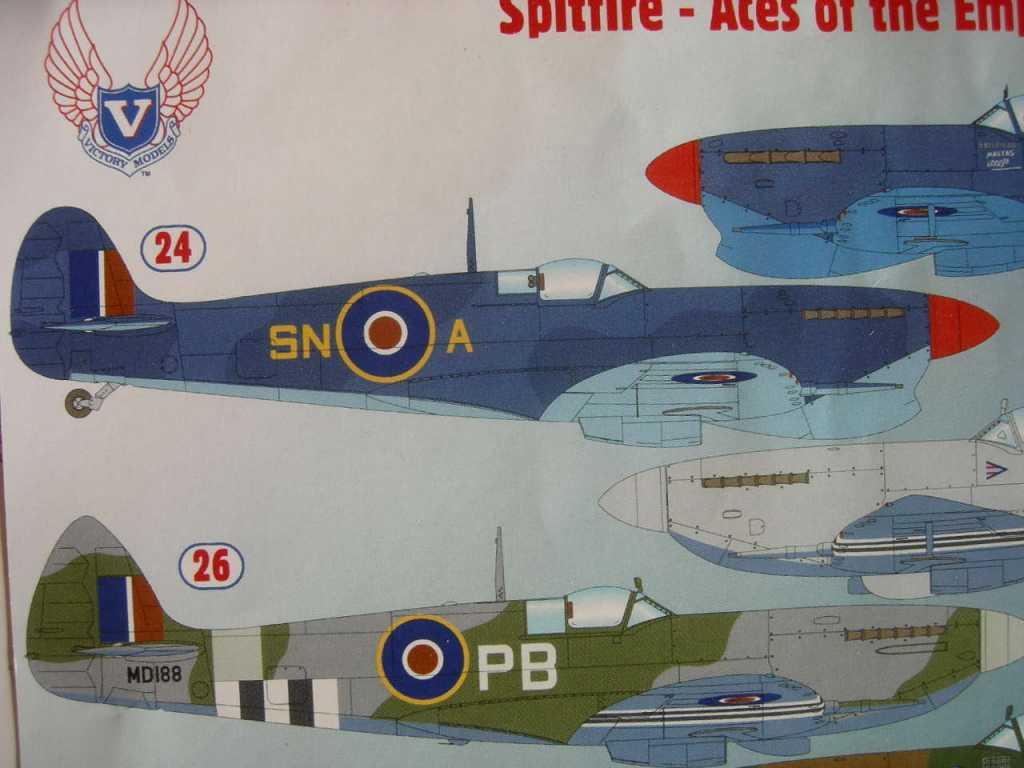 1/48 Spitfire Mk Vc JK715 SN-A, F/O Evan Mackie in Malta